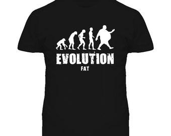 Funny Fat Guy Evolution T Shirt