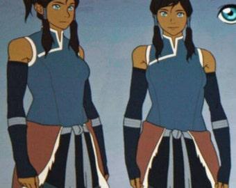 Avatar the legend of korra season 2 korra cosplay costume Version 2