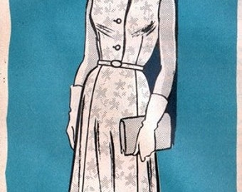 Mail Order 9400 Dreamy After Five Dress 1960's / SZ16.5 UNCUT