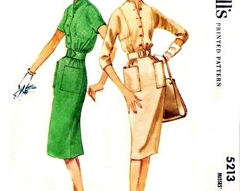 McCall's 5213 Trendy Shirtwaist Dress 1959 / SZ14 UNCUT