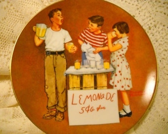 "Norman Rockwell Plate -  ""Little Salesmen"" - American Series II - 1980"