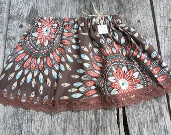 Skirt Brown rosettes for girl