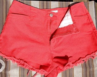 Coral HighWaisted Dream Jeans Shorts SZ 6/7/8