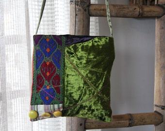 Ethnic Handicraft, Bags Boho, Shoulder Bag,  Embroidered Purse, Hill Tribe Bag, Tribal Handbags, Body Messenger Bag, Ethnic Shoulder Bag