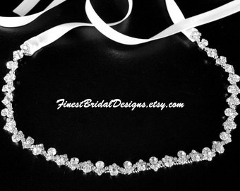 Bridal RHINESTONES Headband, Bridal Headpiece, Rhinestone Headband, Crystal Bridal Headband, Bridal Headband, Wedding Headpiece