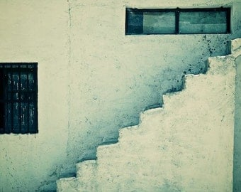 Morocco Collection: Stairway to _____., Modern Art, Minimal Photography, Cool Tones