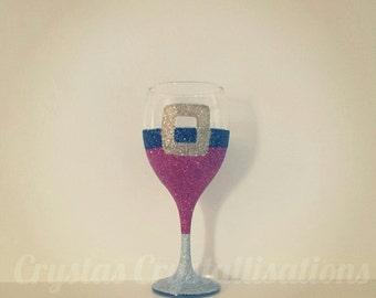 Santa Style Glitter Glass