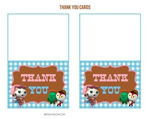 Sheriff Callie's Wild West Printable Thank You Cards / Notes - Instant Download
