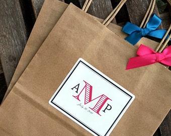 Personalized Bold Monogram Wedding Welcome Bag