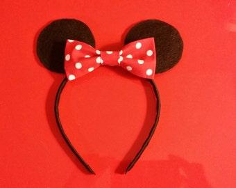 Bulk Minnie  or Mickey Mouse Headband - Birthday Party Pack 1, 5, & 10