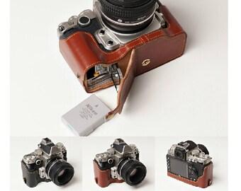 Nikon DF leather cameras case, Nikon Camera Case, Simple Half Leather Camera Case Bag