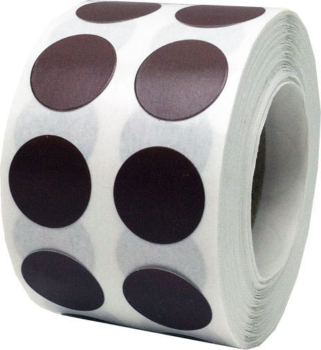 1000 Brown Dot Stickers Small 1 2 Inch Round Adhesive