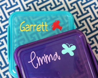 DIY Personalized Sandwich Box, Lunch Box Decal
