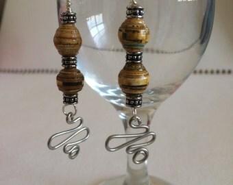 Handrolled Paper Bead Earrings