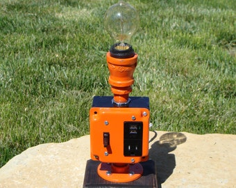 Steampunk Lamp With Dual Usb Ports Amp 110v Plug With