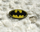 Small BATMAN Iron on Patch, Badge, Applique.  FREE SHIP.