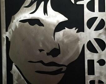 Jim Morrison of the doors metal art