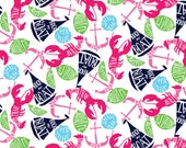 "Lilly Pulitzer Summer Classics Fabric for Letters 5"" by 5"""