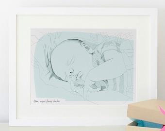 Personalized baby portrait