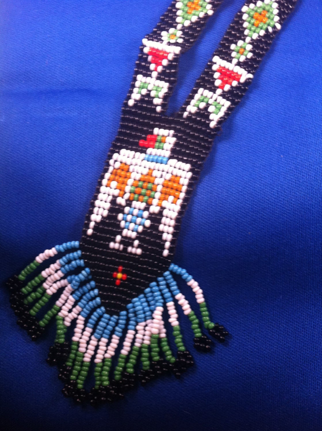 mexican beaded necklace by beginyourjourney on etsy