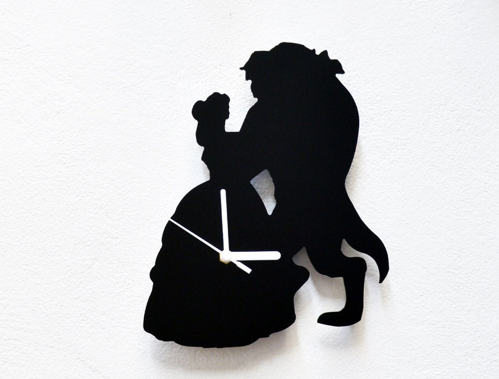Beauty And The Beast Silhouette Wall Clock