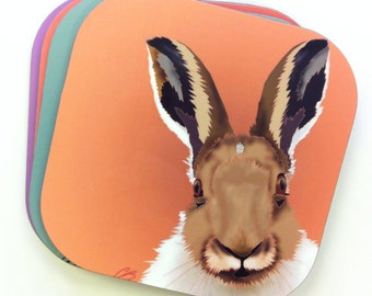 Woodland Creatures - Mr. Hare Coasters