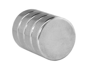 3/4 x 1/4 Inch (19 x 6.5 mm) Craft Magnets Neodymium Rare Earth Disc Magnets N48 (4 Pack) - Neodymium Magnets - Rare Earth Magnets
