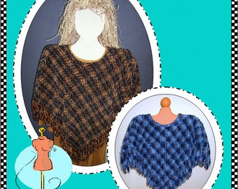 Chenille Poncho Digital Pattern (#104) - Instant Download
