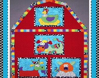 Down on the Farm Appliqué Quilt Digital Pattern (#109) - Instant Download