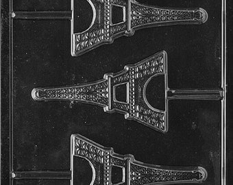 Eiffel Tower Chocolate Candy Mold with Exclusive FlavorTools Copyrighted Chocolate Molding Instructions M155