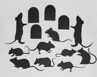 Silhouette Mice and Mice Holes