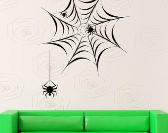 Wall Stickers Vinyl Decal Spider Net Сobweb Web Decor For Living Room (z2047)