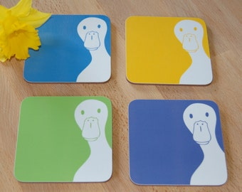 Peek A Boo Duck Coaster (Set of Four)