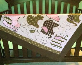 Baby Girl Elephant Blanket