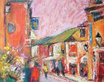 Fine Art Card Street Scene