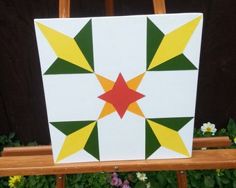 Mini Barn Quilt - Corn Pattern - Don't Have a Barn? No Problem!  Barn Quilts For the Rest of Us!
