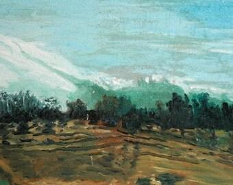 Vintage Impressionist Oil Painting, Landscape