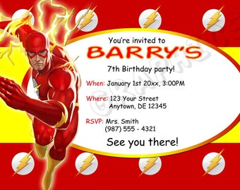 The Flash Birthday Invitation - Printable