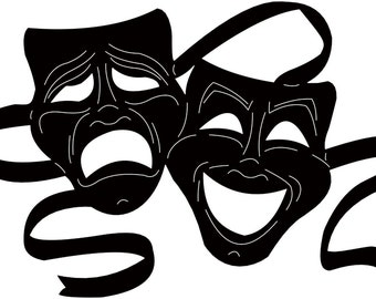 Theater Mask Metal Wall Art Decor