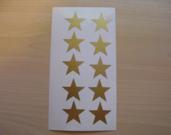 "50 Star Decals 1"", Peel and stick, vinyl star stickers, tumbler decal, cup decal"