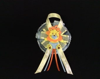 Baby Boy Safari Jungle King Of The Jungle Lion Guest Corsage Capia Baby Pin Baby Shower Favors