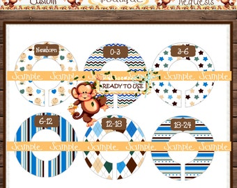 Assembled Baby boy Baby Closet Dividers Nursery Closet Dividers Baby Clothes Divider Custom Closet Divider {M5}