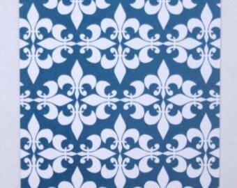 Blue Fleur-de-lis Gift Tags
