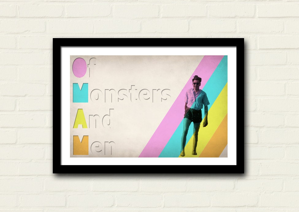 Of Monsters And Men Print 11 X 17 Art Print My Head Is An