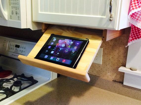 Under cabinet ipad/cookbook holder  Etsy