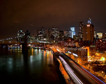 FDR Drive in Manhattan at night