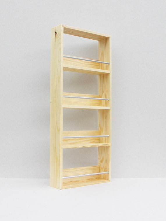 Solid Pine Spice Rack Contemporary Modern Style By