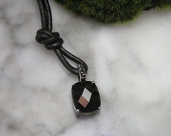 Cross Pendant Swarovski Onyx Lily snake chain ring checkerboard cut
