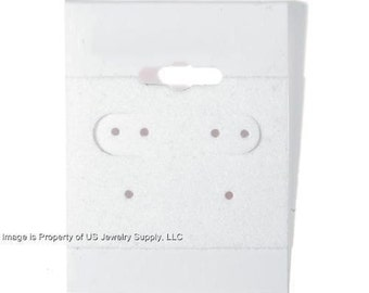 """100 White Hanging Earring Cards 2""""H x 1 1/2""""W Jewelry Display"""
