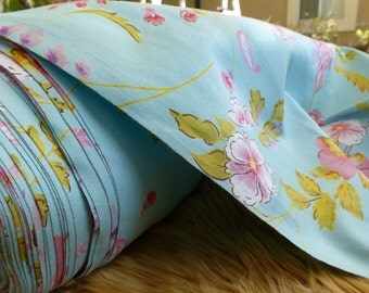 Floral Stretch Cotton Fabric by the Yard